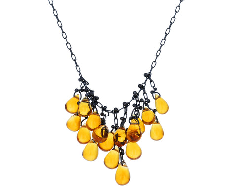 Citrine Dangle Necklace - TWISTonline