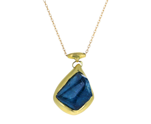 Blue Tourmaline Pendant Necklace