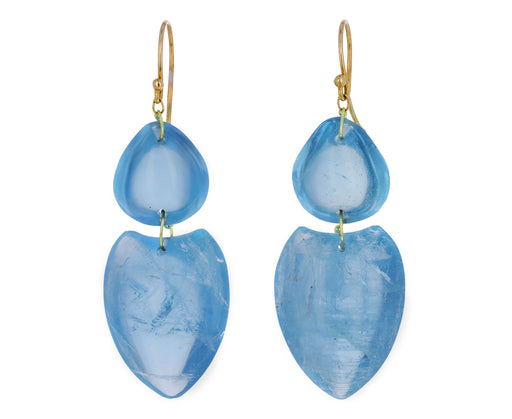Double Aquamarine Earrings