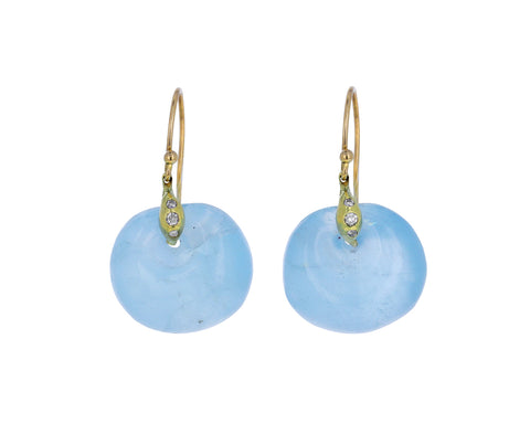 Aquamarine Deco Earrings