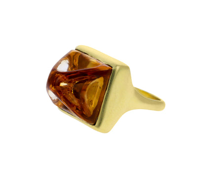 Citrine Monarch Ring