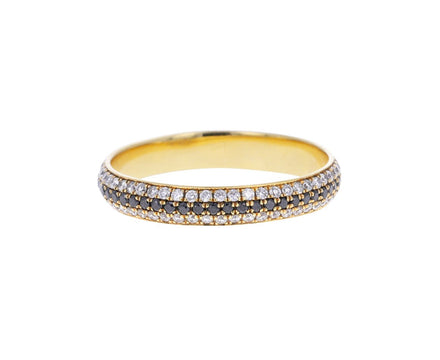 Black and White Diamond Stripe Band