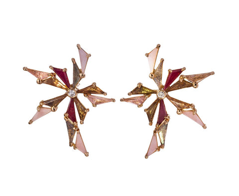 Pink Toned Bermuda Earrings