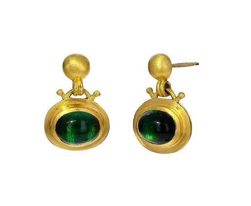 Green Tourmaline Bell Earrings - TWISTonline