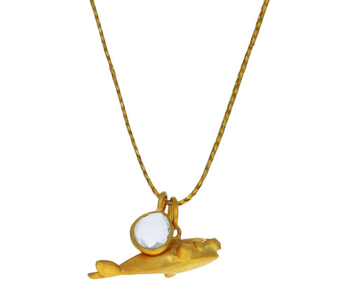 Aquamarine and Whale Colette Pendant Necklace