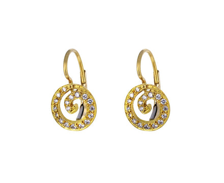 Diamond Swirl Earrings