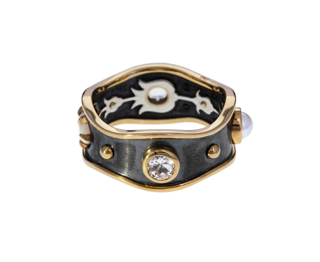 Bandeau Ring with Pearl Opal and Topaz - TWISTonline