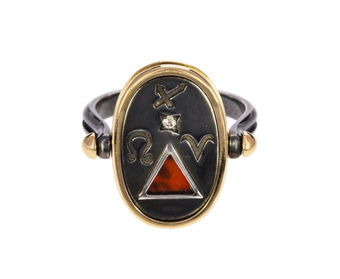 Fire Elements Ring with Carnelian - TWISTonline