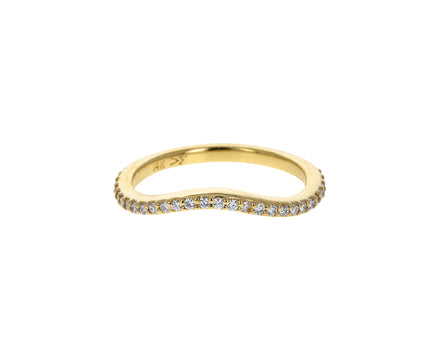 Dainty Wave Diamond Band