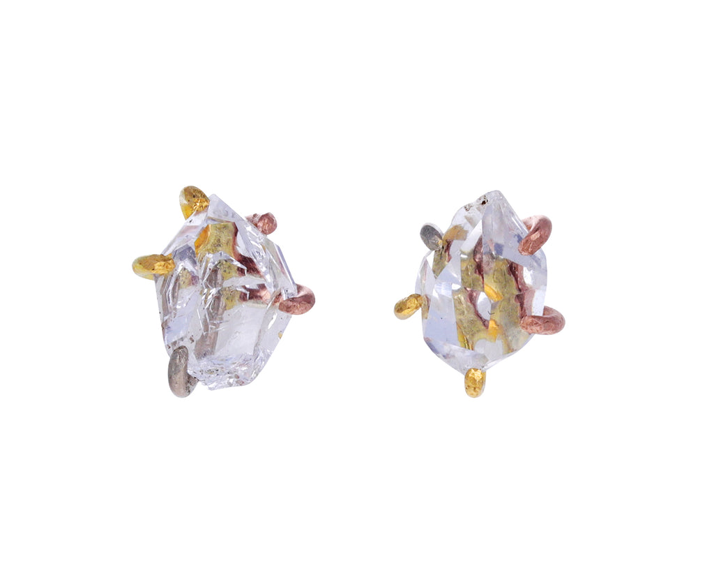 Herkimer Quartz Stud Earrings
