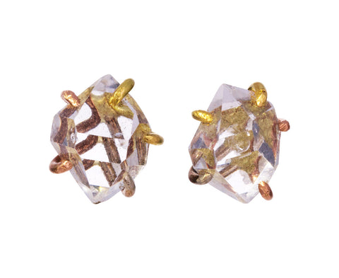 Large Herkimer Quartz Stud Earrings