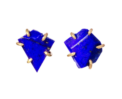 Small Lapis Stud Earrings