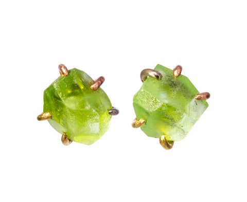 Large Peridot Stud Earrings