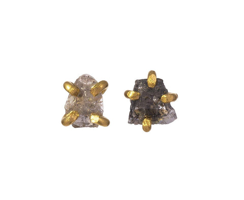 Natural Salt and Pepper Diamond Earrings - TWISTonline