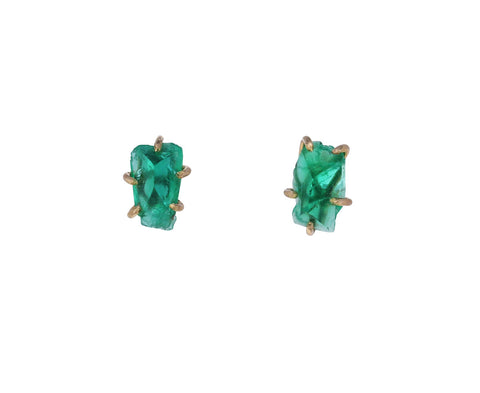Small Zambian Emerald Studs