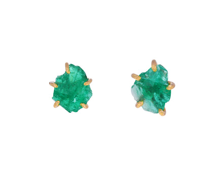 Small Zambian Emerald Stud Earrings