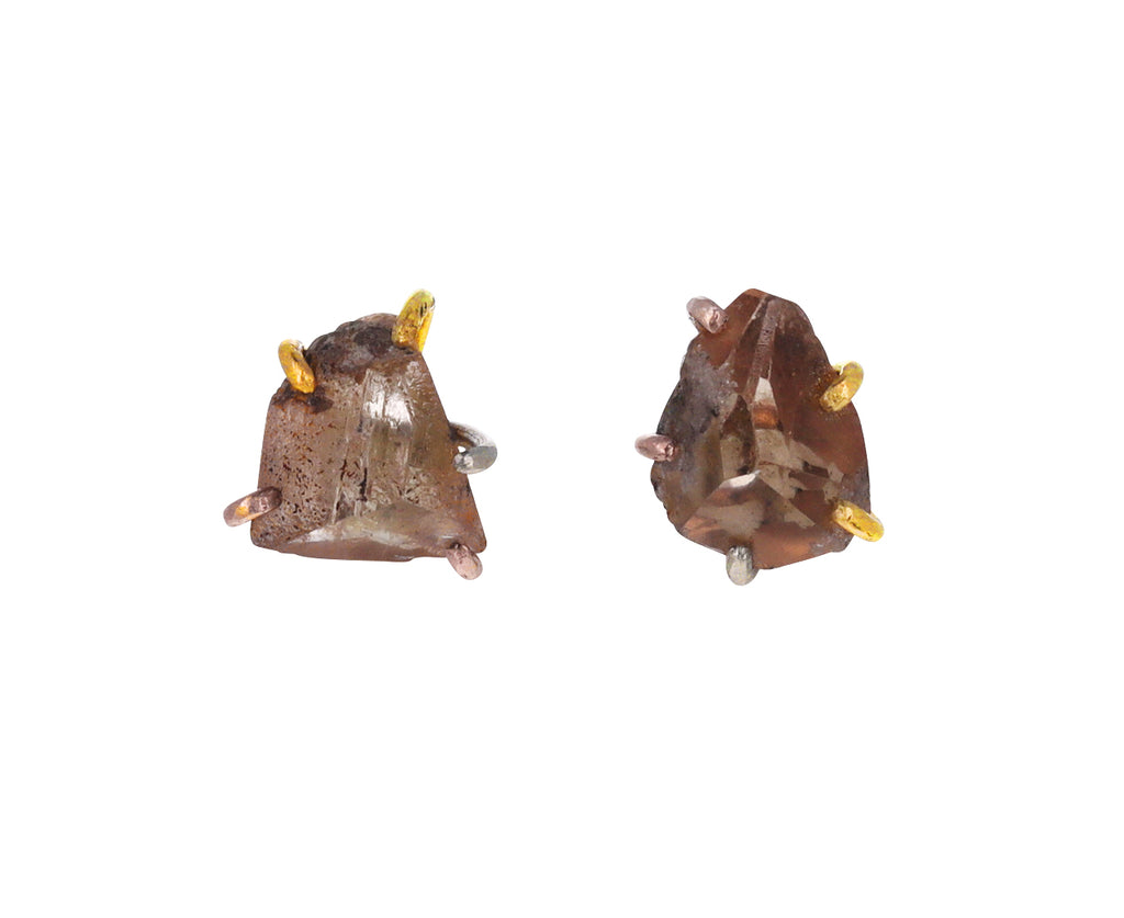 Large Topaz Stud Earrings