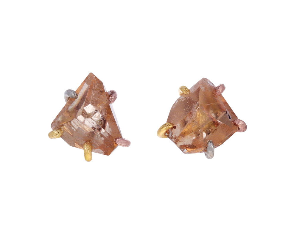 Pale Brown Topaz Earrings
