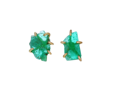 Zambian Emerald Stud Earrings
