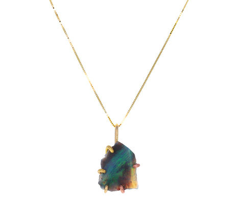 Australian Opal Pendant Necklace