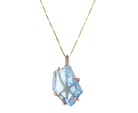 Large Aquamarine Pendant Necklace