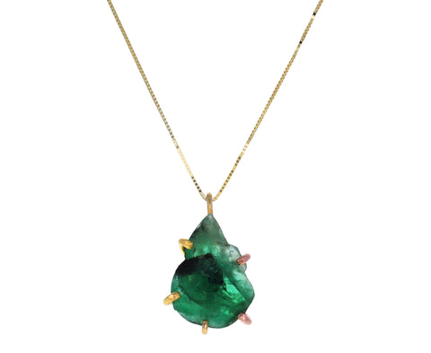 Brazilian Emerald Pendant Necklace