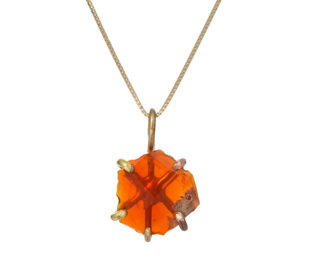 Mexican Fire Opal Pendant Necklace - TWISTonline