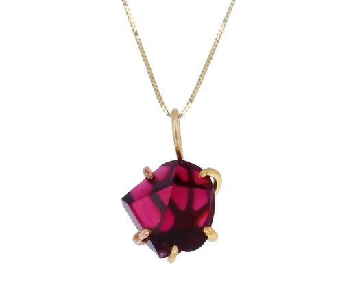 Red Garnet Pendant Necklace - TWISTonline