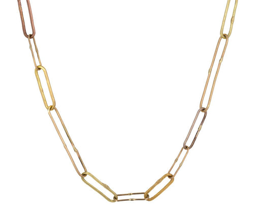 Handmade Mixed Link Chain Necklace zoom 1_variance_objects_gold_handmade_mixed_link_chain_