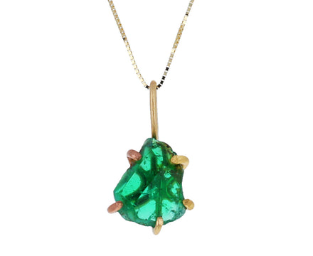Zambian Emerald Pendant Necklace