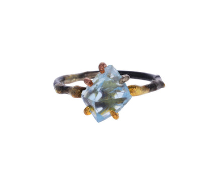 Aquamarine Claw Ring