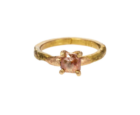 Pink Rustic Diamond Solitaire  zoom 1_variance_gold_rosecut_pink_diamond_ring