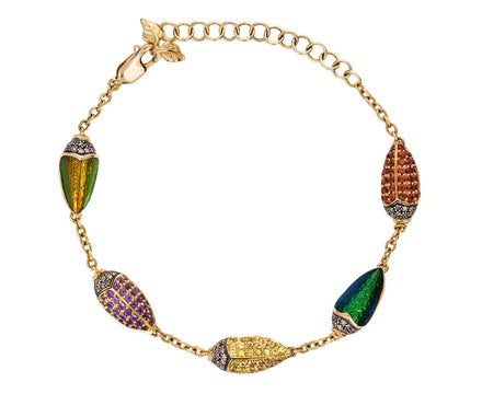 Multi-Color Scarab Bracelet - TWISTonline