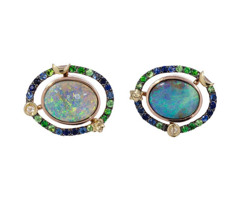 Mini Orbit Opal Earrings - TWISTonline