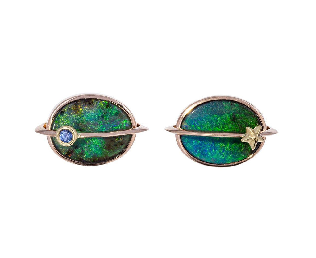 Opal and Sapphire Small Planet Earrings zoom 1_bibi_van_der_velden_opal_sapphire_planet_stud_ea
