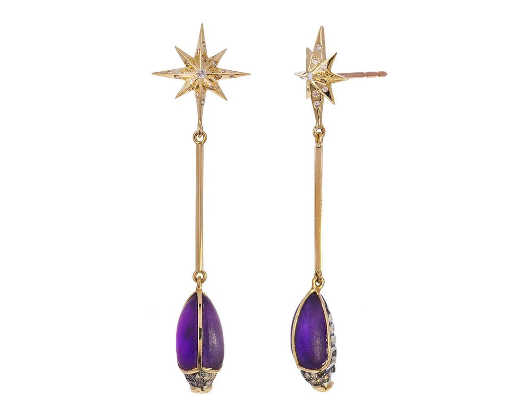 Amethyst Star Scarab Earrings  zoom 1_bibi_van_der_velden_star_scarab_earrings