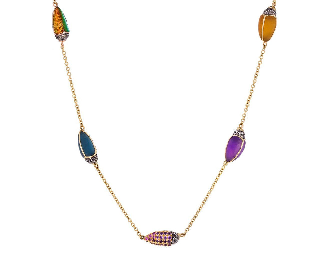 Five Scarab Chain Necklace zoom 1_bibi_van_der_velden_five_scarab_necklace