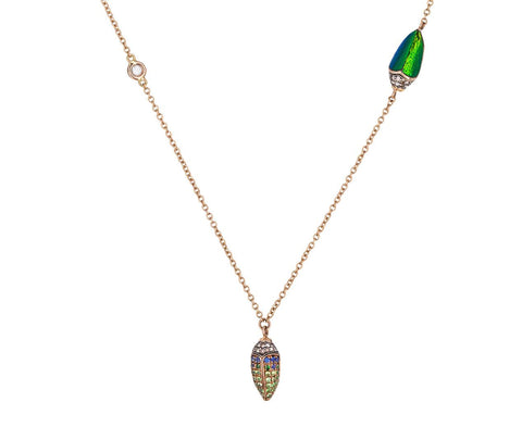 Diamond Scarab Trio Necklace - TWISTonline