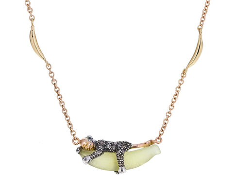 Monkey and Banana Necklace - TWISTonline