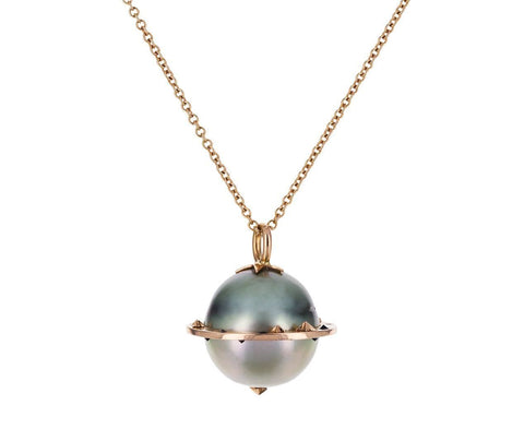 Tahitian Pearl Big Planet Pendant Necklace - TWISTonline