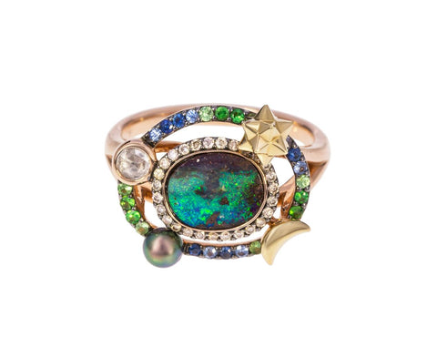 Small Opal Diamond Galaxy Ring - TWISTonline