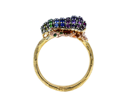 Rainbow Sapphire Caterpillar Ring - TWISTonline