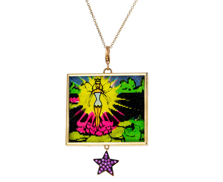 Sapphire Star and Fairy Vari Vue Pendant Necklace