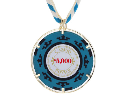 Money-Go-Round Vintage Casino Royale Casino Chip Necklace