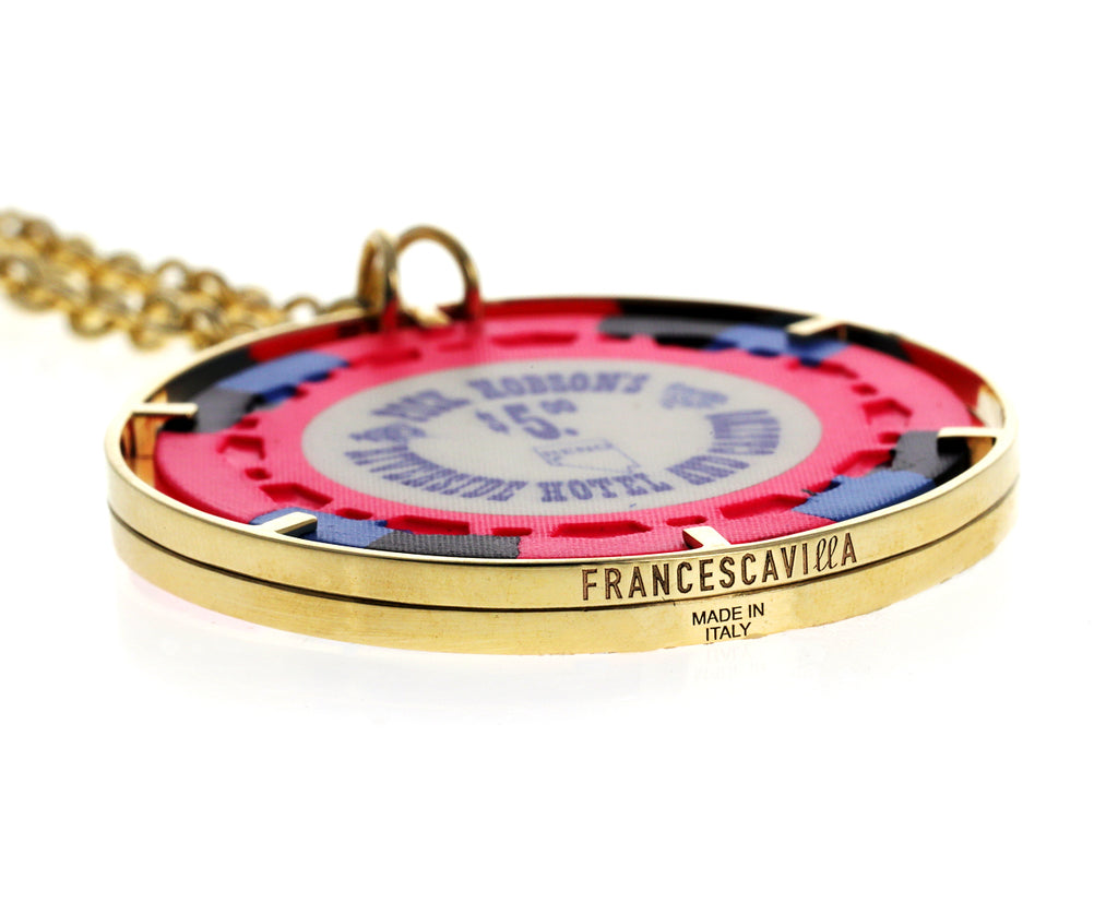 Money Go Round Vintage Chip Pendant Necklace