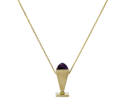 Amethyst Love Stamp Pendant Necklace - TWISTonline