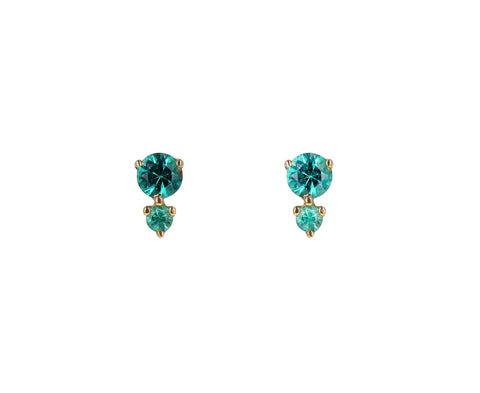 Emerald Francesca Stud Earrings
