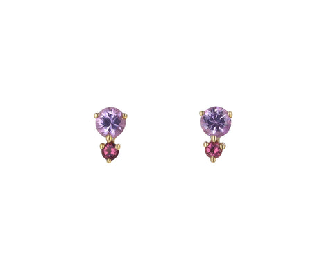 Pink Tourmaline Francesca Stud Earrings