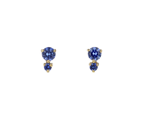 Blue Sapphire Francesca Stud Earrings