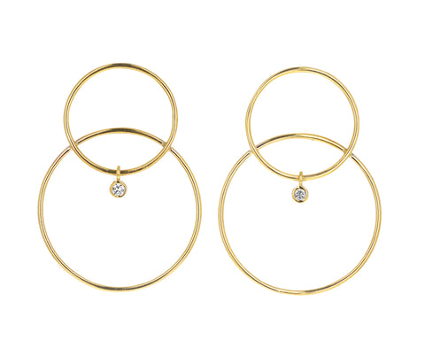 Large Diamond Scarpa Earrings